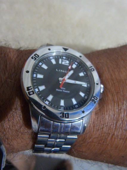 1 Relógio Lince/orient Quartzo Mod. Mrm4037s Caixa 45x51 Mm