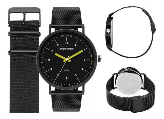 Relógio Mormaii Masculino Kit Mo1l32aa/t4p Original Barato