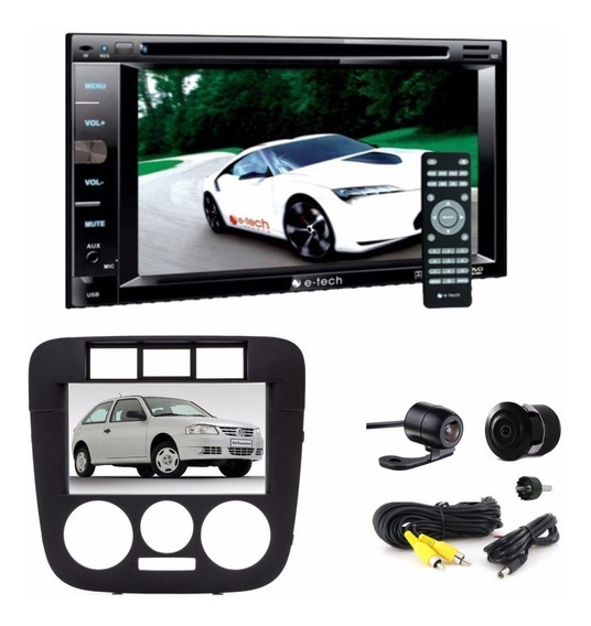 Kit Gol G4 Dvd Player 2 Din Usb Bt + Moldura Pre + Câmera Ré