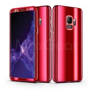 Capa Capinha Celular Galaxy S7 Edge Vermelho Metálico 360°