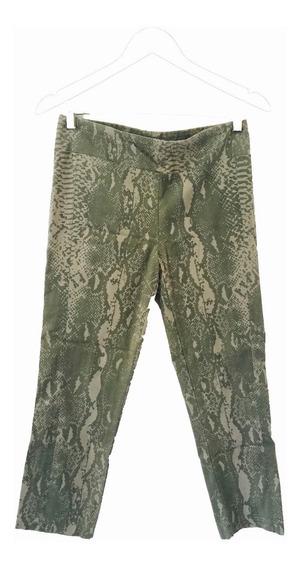 Calzas Animal Print En Tonos Verdes Capri Jazmín Chebar