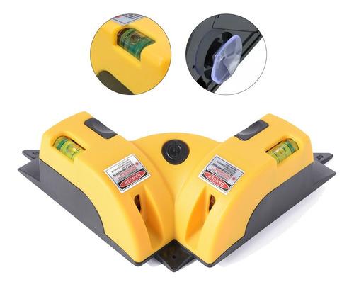 Nivel Laser 90 Graus Horizontal E Vertical Com Prumo Amarelo