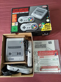 Super Nintendo Nes Classic Mini Europeu Original + 300 Jogos