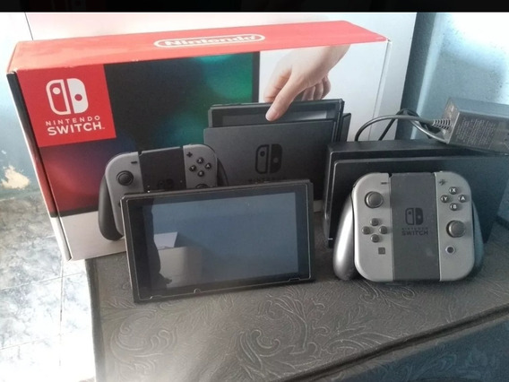 Nintendo Switch Seminovo - Cinza 32gb - Desbloqueavel