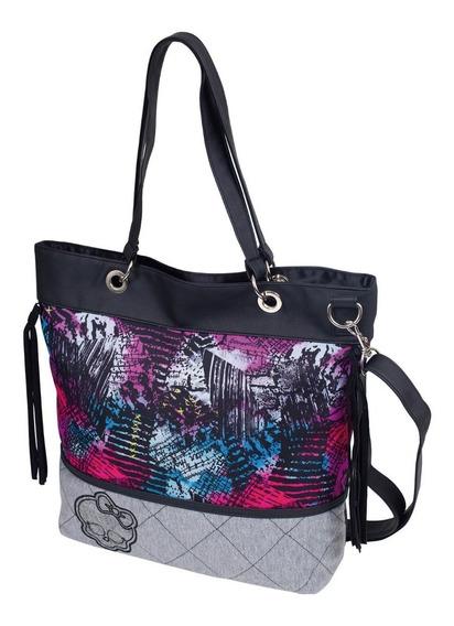Bolsa Juvenil Feminina Tote Bag Monster High Flores Sestini