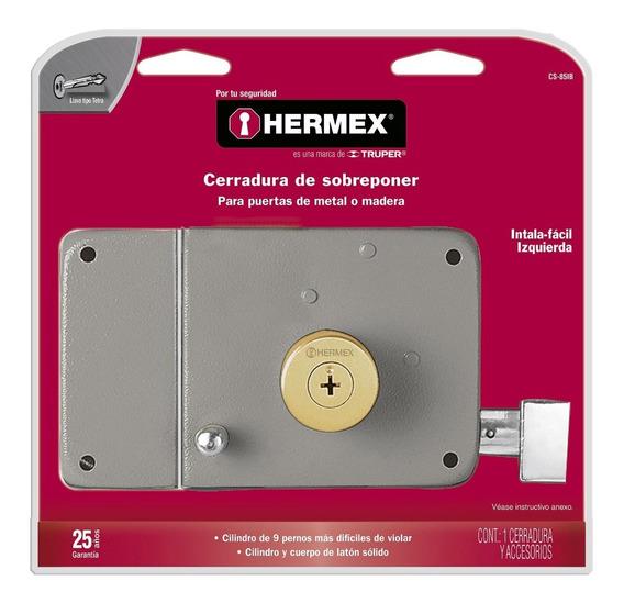 Cerradura Sobreponer Instalafacil Tetra Izq Hermex 43586