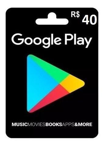 Recarga Google Play 40 Reais (gifts Card)por 51,99