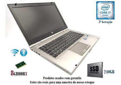 Notebook Hp Elitebook I7 3ª Geração 8gb/ Ssd/com Garantia.