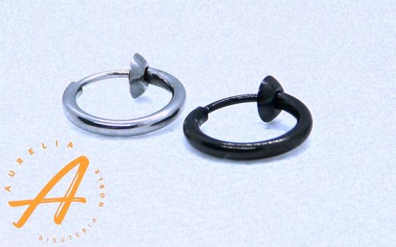 Piercing Arracada Falsa Negro 2 Pzs Con Envío
