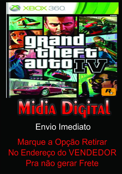 Gta 4 Xbox 360 Mídia Digital Original