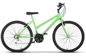 Bicicleta Aro 26 Pro Tork Ultra Feminino Freio Vbreak Branco