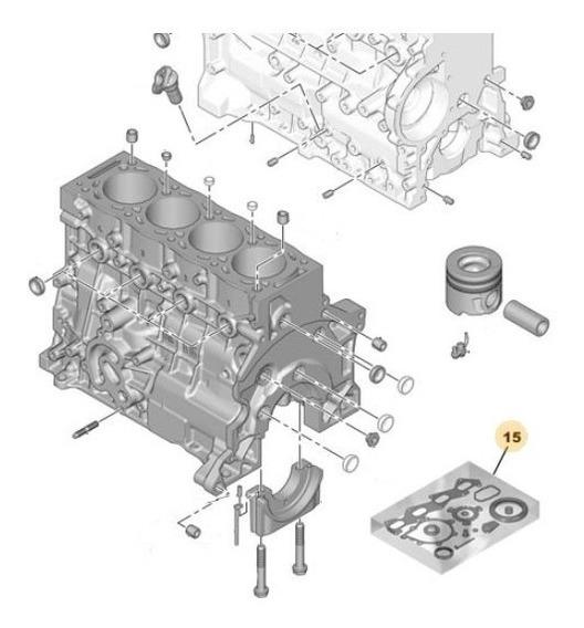 Juego Juntas Motor Peugeot 505 2.2 D