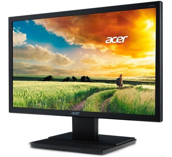 Monitor 21,5 Led Hdmi Dvi Vga Bivolt Preto Acer V226hql