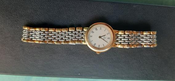 Relógio Omega De Ville 22mm Quartz Aço Inox/ Plaquet D´or