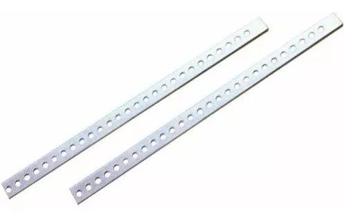 Kit 20 Peças Varão Perfurado Fixação Aparelhos Travas-23cms