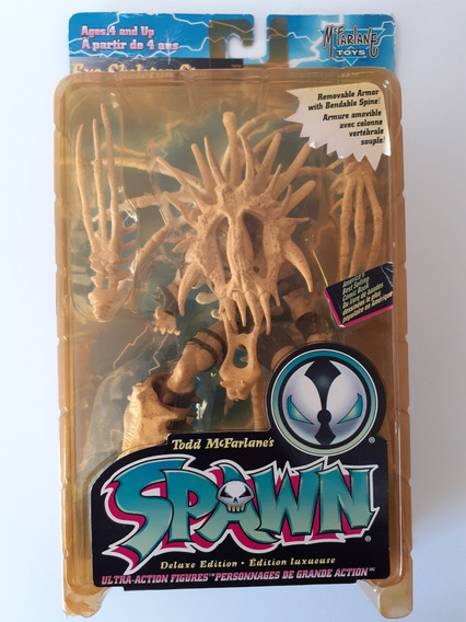 Spawn Boneco Exo Skeleton Gray Spawn Mcfarlane Toys Series 4
