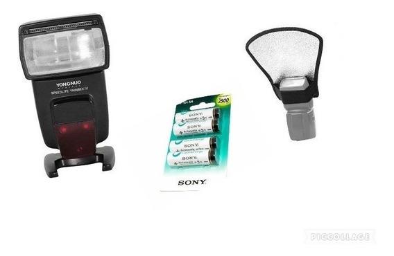 Yongnuo 568 Ex Ill P/c+ Pilhas Sony Aa +rebatedor C/nf