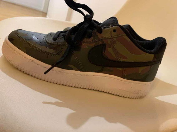 Nike Air Force 1 Camo Talle 6.5y Nuevas!! Solo Una Postura