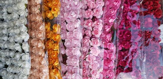 Flores Artificiales De Papel #001 X 72 Unidades 1cm
