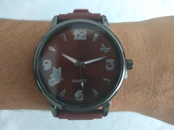 Relógio Feminino De Pulso Stainless Steel Back Promoção