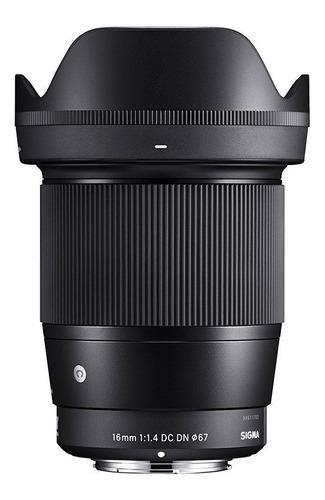 Imagem 1 de 10 de Sigma 16mm F/1.4 Dc Dn E-mount Sony -lente Nova - Video