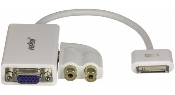 Leitor Adaptador iPad iPhone iPod Vga Rca Video Fi-2115