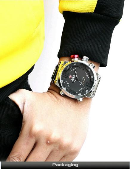 Relógio Masculino Esportivo Shark Sh104 Led Pronta Entrega