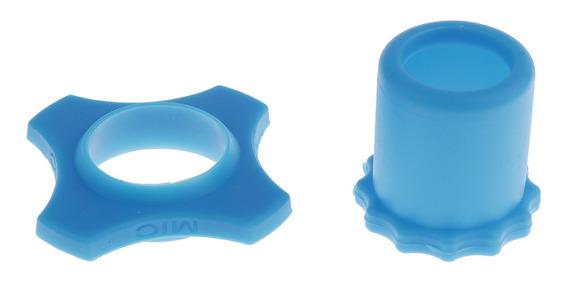 Microfone Sem Fio Mic Anéis Proteção Anti Rolamento + Azul F