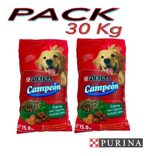 Imagen 1 de 4 de Croqueta Purina Campeon Carne Vegetales Adulto 30 Kilos Pac