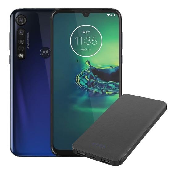 Celular Moto G8 Plus Dual 64gb Azul+power Bank 10000mah Pto