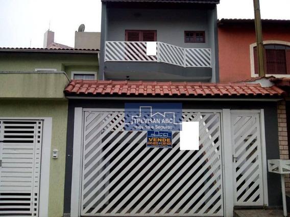 Sobrado Nova Petrópolis/sbc Com 4 Stes E 4 Vagas - So0802