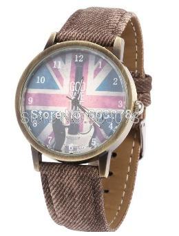 Relógio Goo Save The King - Estilo Vintage - Marrom