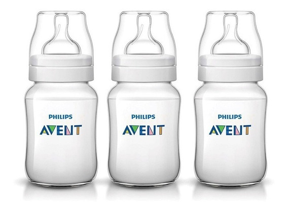 Avent Mamaderas Classic+ 260ml Combo X3