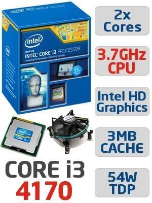 Processador Intel® Core I3-4170 3,70 Ghz Lga 1150 4° Ger