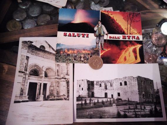3 Postales Antiguas Italianas