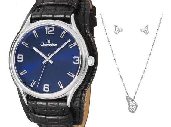 Relógio Champion Feminino Couro - Cn20293k