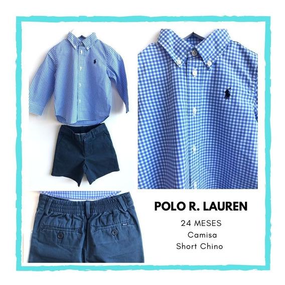 Short Chino, 24 Meses, Polo R. Lauren