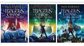 Kit Livros Percy Jackson Série Magnus Chase E Os Deuses