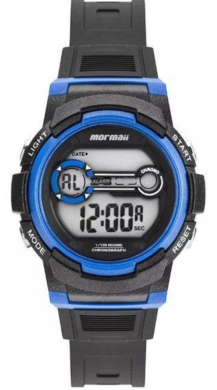 Relógio Infantil Mormaii Preto/azul Original Envio Imediato