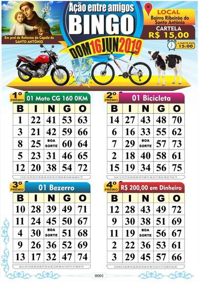 400 Cartelas De Bingo Personalizada Em Pdf Arquivo