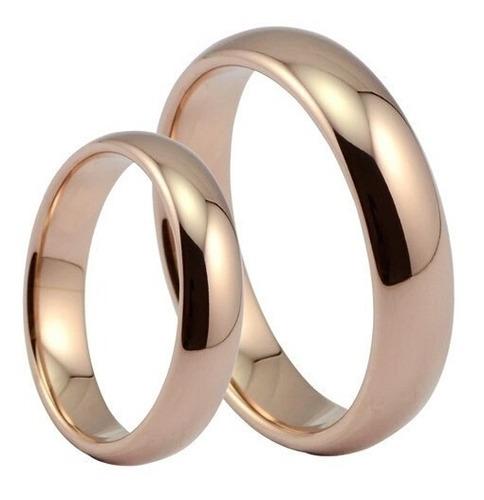 Imagen 1 de 1 de Anillos De Matrimonio Oro 18k Swarovski Aro Boda Amor Regalo
