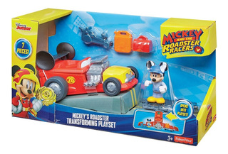 Mickey O Donald Auto De Carreras Transformable Fisher Price