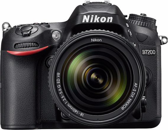 Câmera Nikon D7200 C/ Lente 18-140mm+ 32gb+ Bolsa+ Tripé