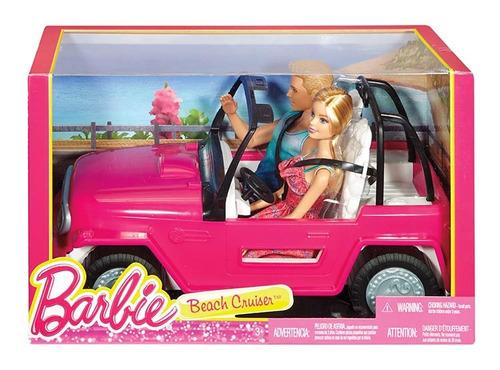 Barbie Set Jeep Auto De Playa Con Barbie Y Ken Beach Cruiser