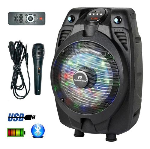 Parlante Bluetooth Karaoke As610 Usb Bateria Radio Cuotas