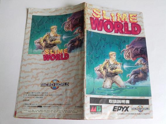 Manual Slime World - Jap - Mega D - Origi. Frete $10,00 C.r.