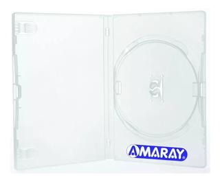 100 Estojo Caixa Capas Box Dvd Pack Transparente Filme Jogo
