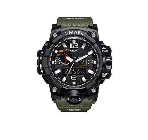 Relógio Esportivo Militar Smael Verde 1545v