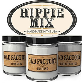 75e1cb6b6f9 Velas Perfumadas - Hippie Mix - Set De 3: Cannabis, Incienso