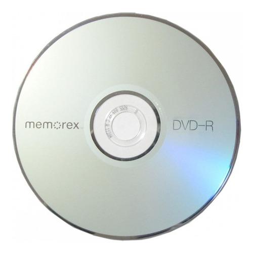 Dvd Memorex Estampados 8x 4.7gb 120 Minutos Bulk X100 Unid.